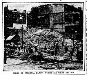 Another view of the blast site looking southwest.