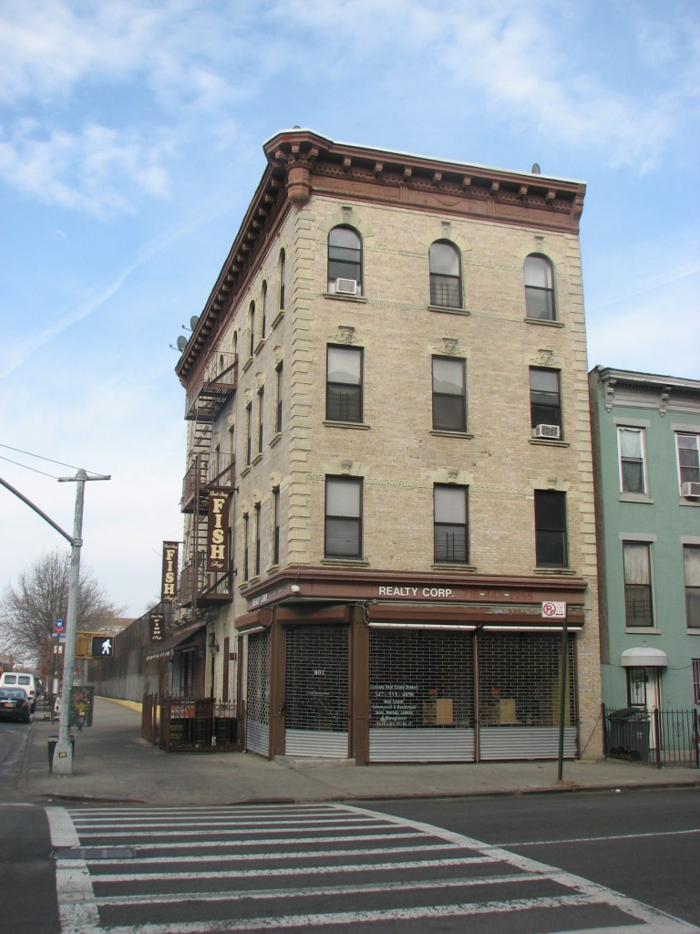 801 Halsey Street, cor. of Halsey St. and Howard Ave., as it appears today.