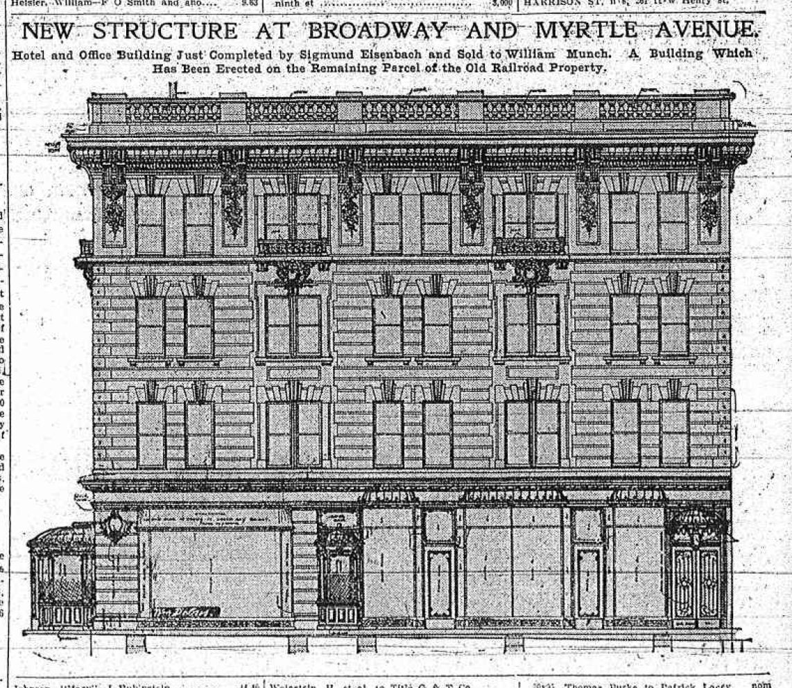 A beer called munch 1904 the brownstone detectives for Brownstone building plans