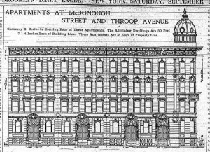 The plans for 129-141 McDonough St., which created the furor.