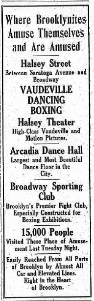 An ad from the triumvirate's heyday. (Brooklyn Daily Eagle, Thurs., 26 October 1916)