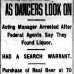 During Prohibition,  Arcadia Hall was raided numerous times. (Brooklyn Standard Union, Thurs., 8 December 1921).