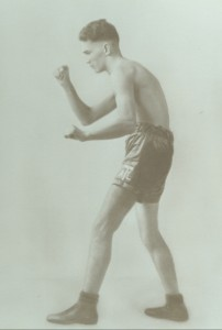 Al Tiernan, an early fighter at the Broadway Boxing Arena.