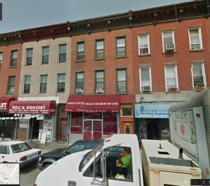 Fallon was carried from where he fell on 31st Street, to a druggist in this building near the corner of 3rd Avenue and 9th Street.