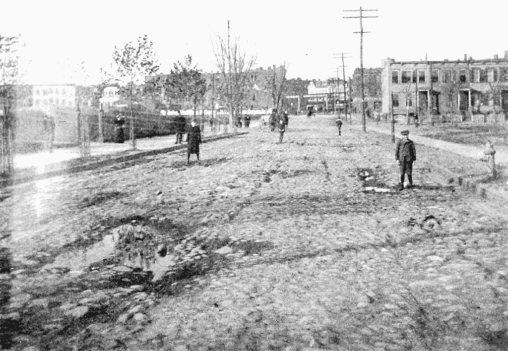 Saratoga Avenue between Macon and Halsey streets - showing possibly some of the boys of the Hancock Street gang.