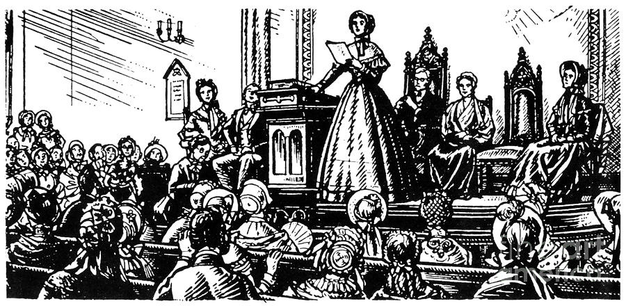 first womens rights convention held in 1848 In july 1848, the first convention agitating for women's rights, held in seneca falls, new york, produced a declaration of sentiments asserting that all men and women are created equal of those who signed it, only charlotte woodward, a glove-maker, lived to cast a vote in 1920, at age ninety-one.